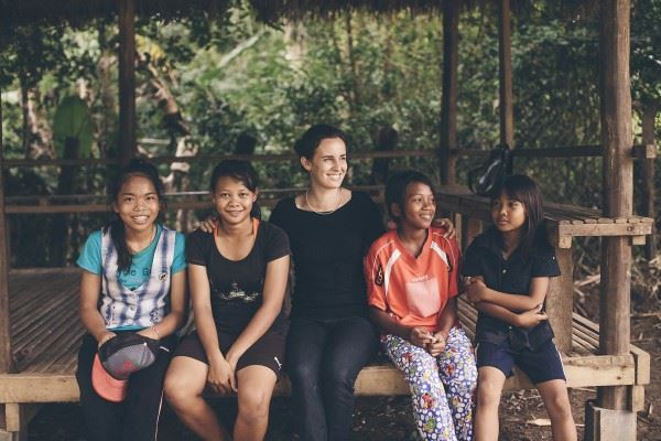 Jenny Ciucci and girls of Children's Future International